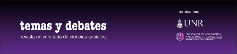 Temas y Debates. Revista universitaria de Ciencias Sociales